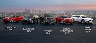 Get up to 20% below MSRP on most 2018 Buick models when you finance through GM Financial.