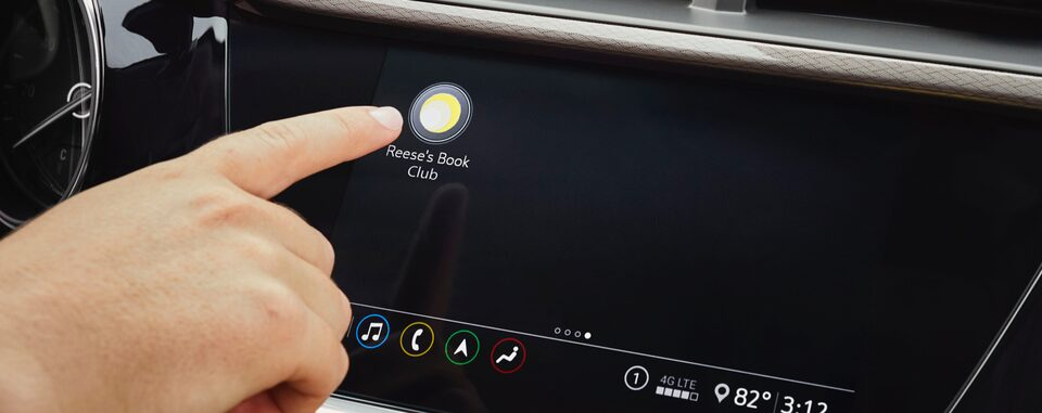 2020 Buick: Reese Witherspoon Book Club Icon on Touch Screen Infotainment System