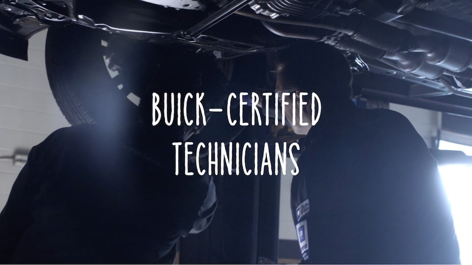 Buick Certified Service offers expert technicians trained specifically to work on Buick vehicles
