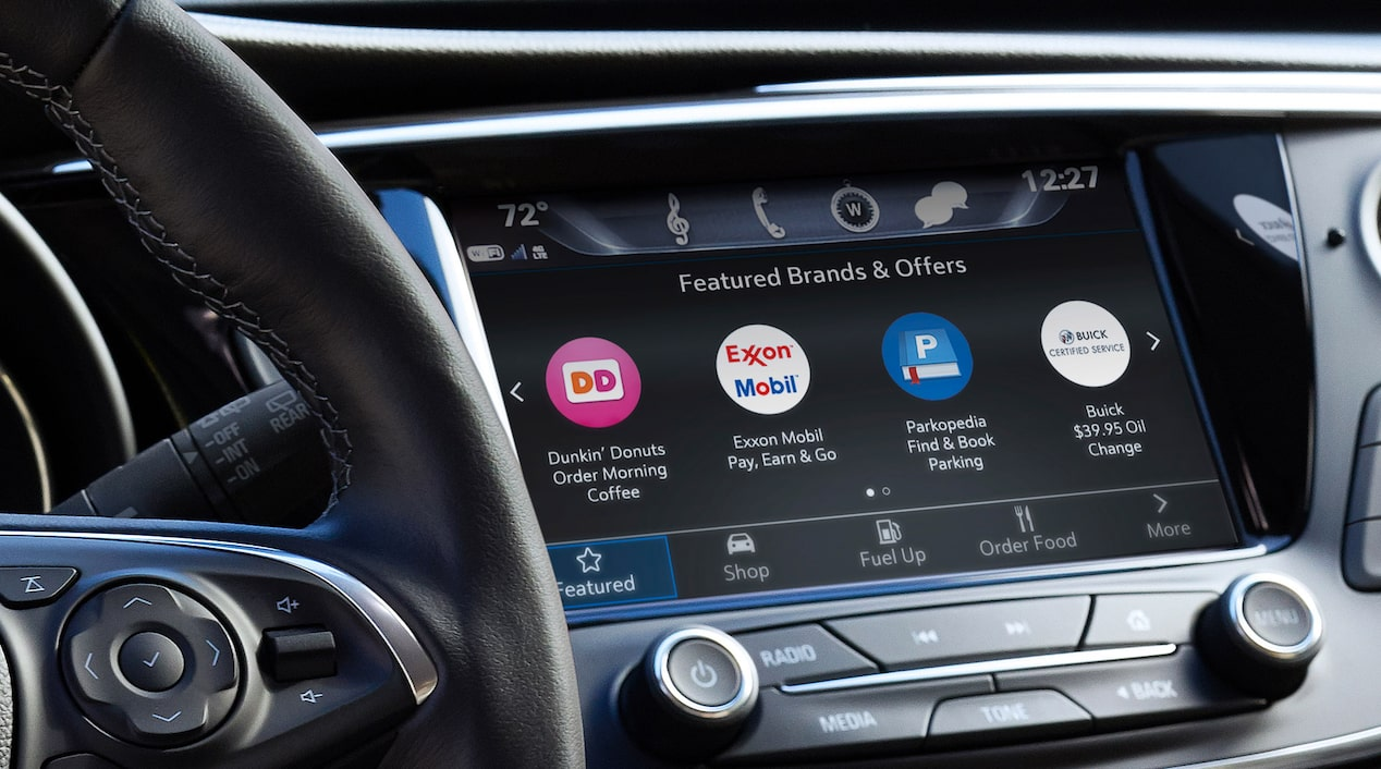 Buick In-Vehicle Marketplace Apps on Front Dash Touch Screen