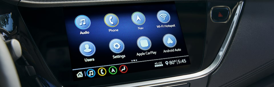 2020 Buick in-vehicle touchscreen apps