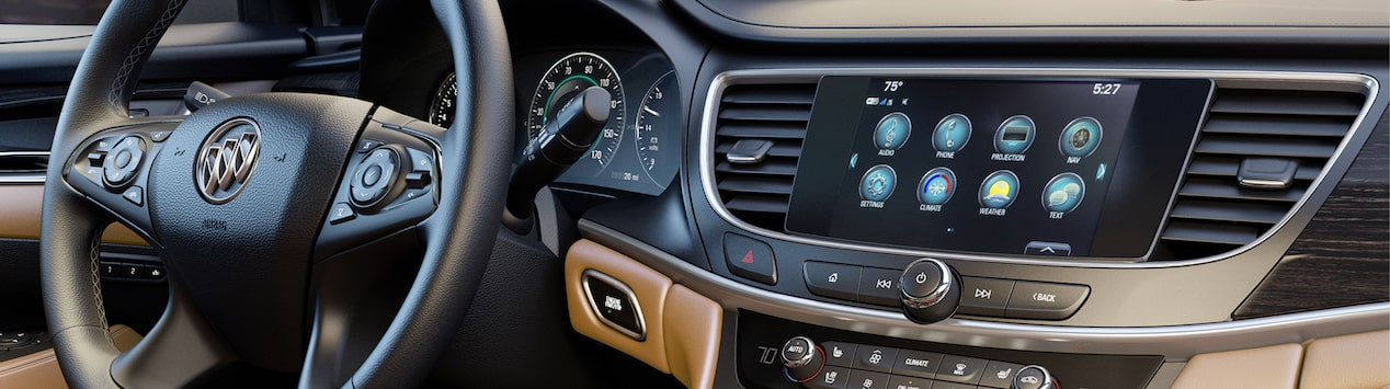 Photo showing Buick Infotainment System.