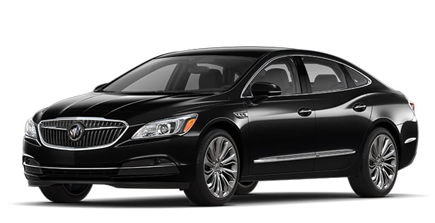 Jellybean image showing the 2018 Buick LaCrosse full-size luxury sedan in white frost tricoat.