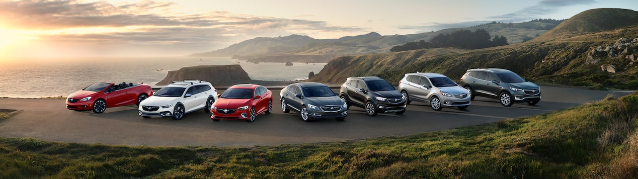 Shop, click, and drive the Buick lineup of luxury cars and SUVs.