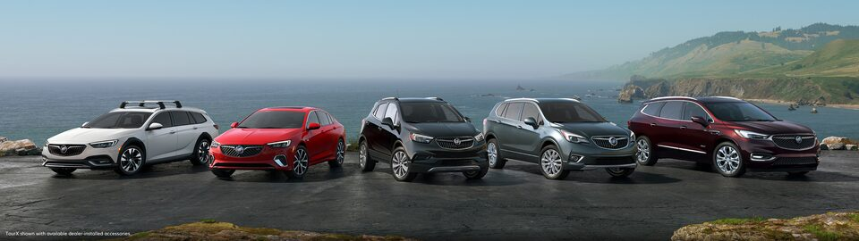 Buick Lineup of SUVs and Cars
