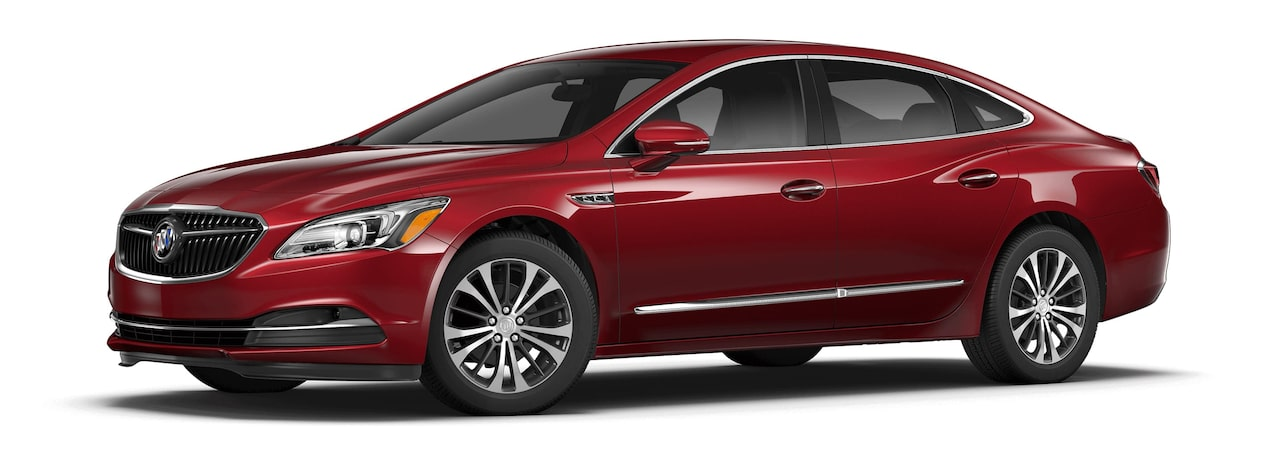 Image of the 2017 Buick LaCrosse full-size luxury sedan in red crimson.