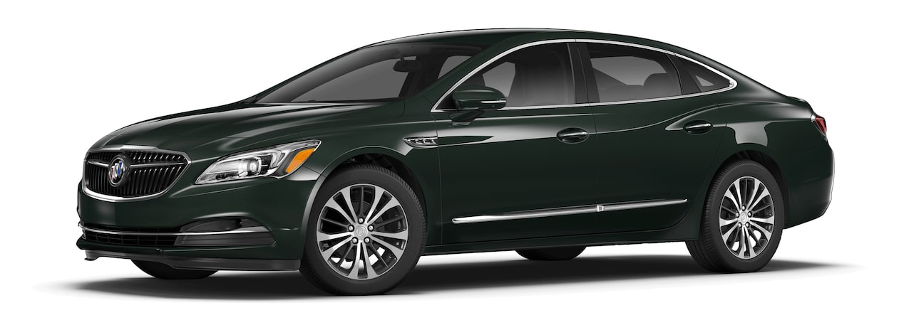 Image of the 2017 Buick LaCrosse full-size luxury sedan in green metallic.