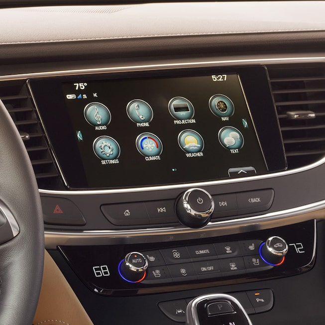 Interior image of the 2017 Buick LaCrosse full-size luxury sedan.