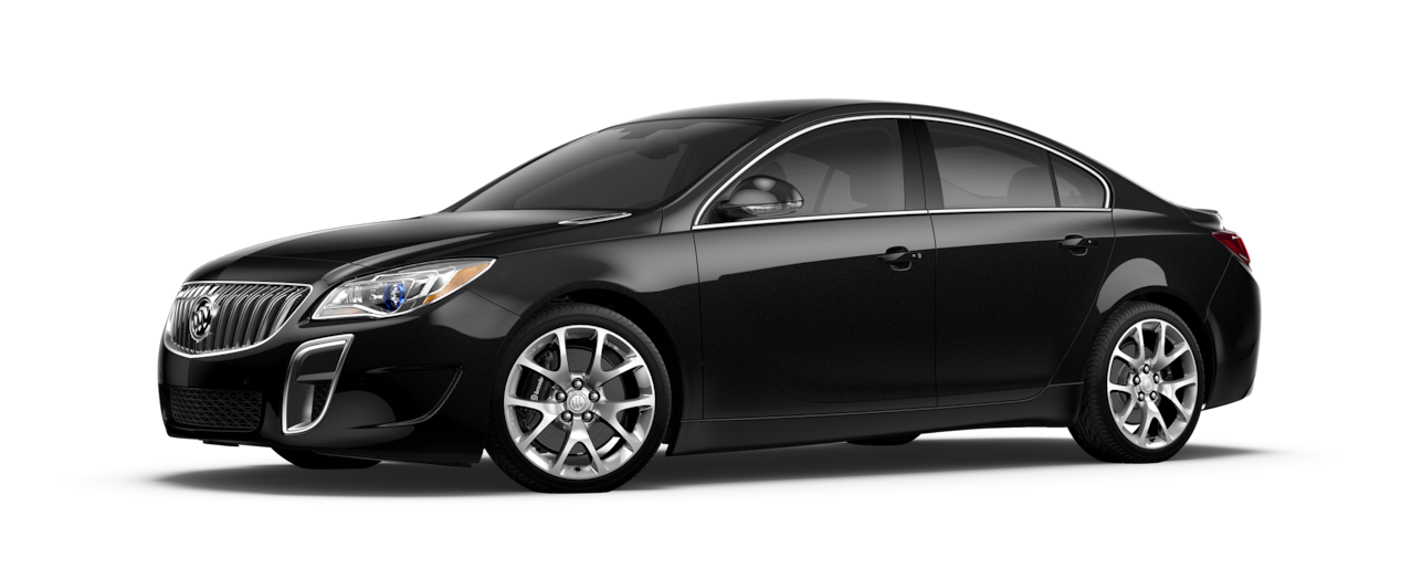 Image of the 2017 Buick Regal mid-size luxury sedan in black onyx.
