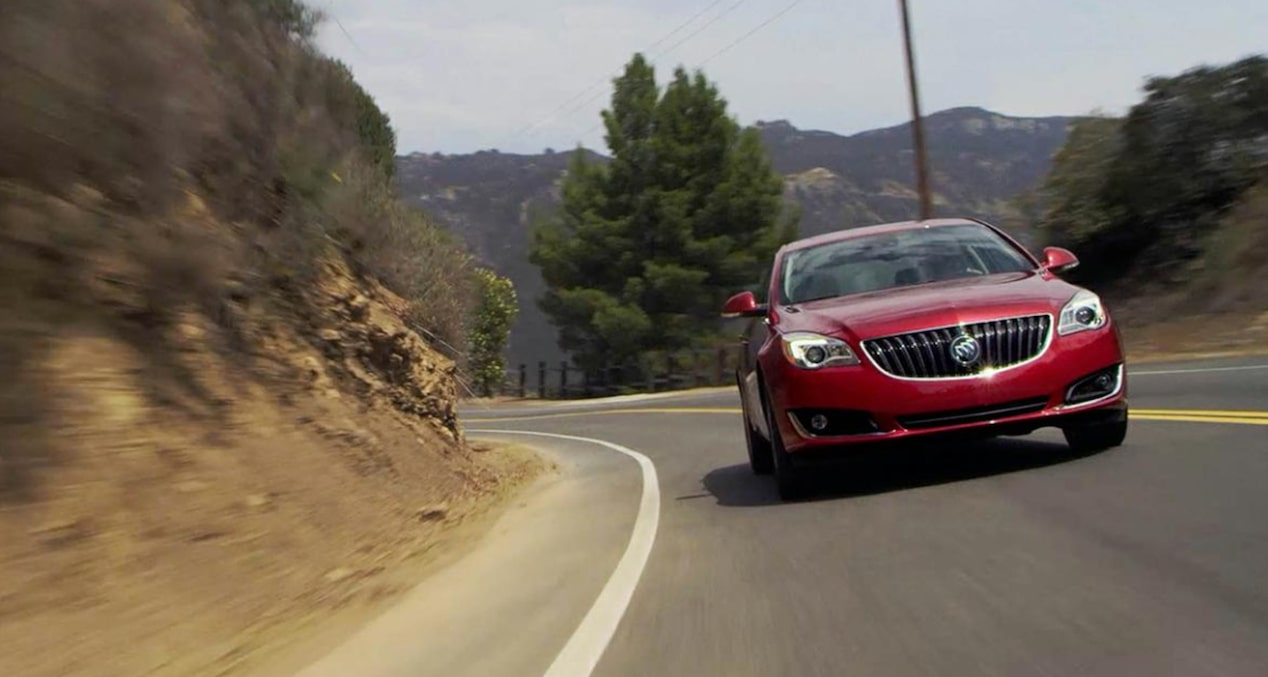 Click to watch a video about the exterior styling of the 2017 Buick Regal mid-size luxury sedan.