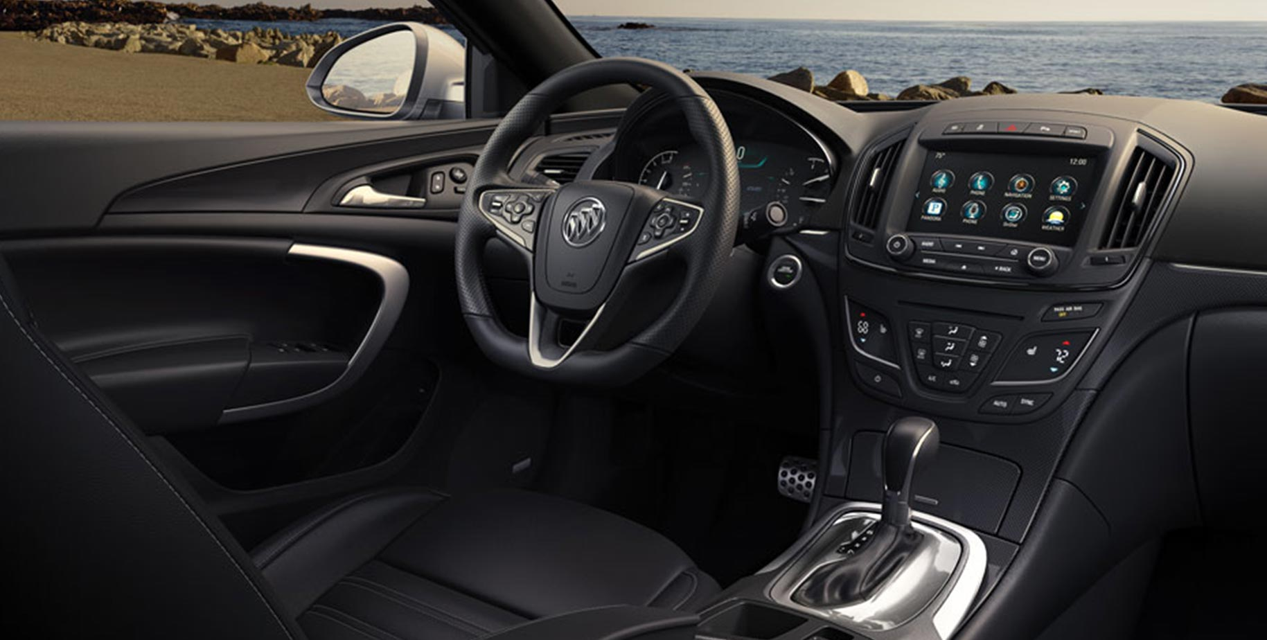 Image Of The Front Cabin From The Passengers Side Of The 2017 Buick Regal  Mid  Ideas