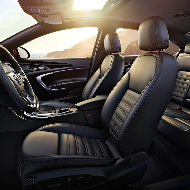 Interior image of the 2017 Buick Regal mid-size luxury sedan.