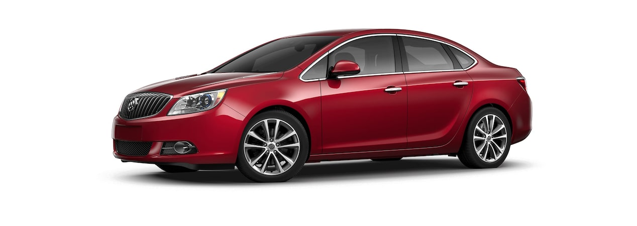 Image showing the 2017 Buick Verano small luxury sedan in crystal red tintcoat.