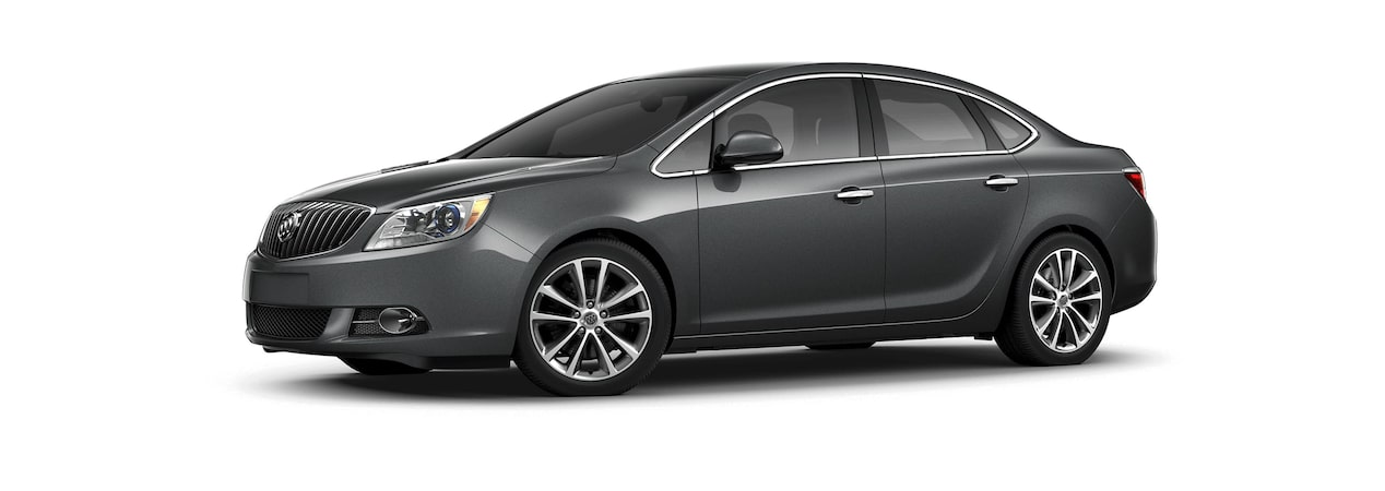 Image showing the 2017 Buick Verano small luxury sedan in graphite gray metallic.