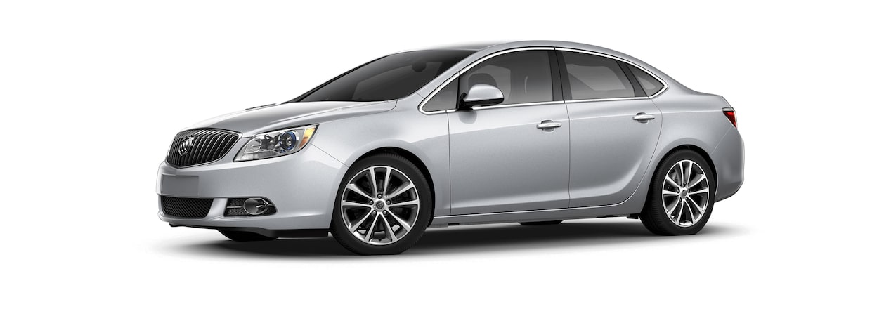 Image showing the 2017 Buick Verano small luxury sedan in quicksilver metallic.
