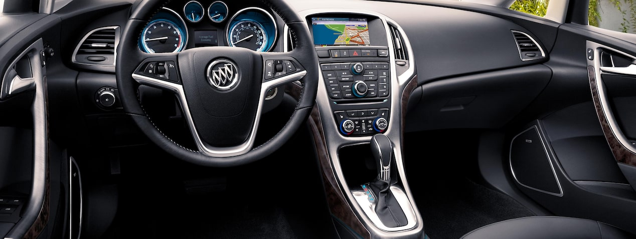 Masthead image for page highlighting connectivity features of the 2017 Buick Verano small luxury sedan.