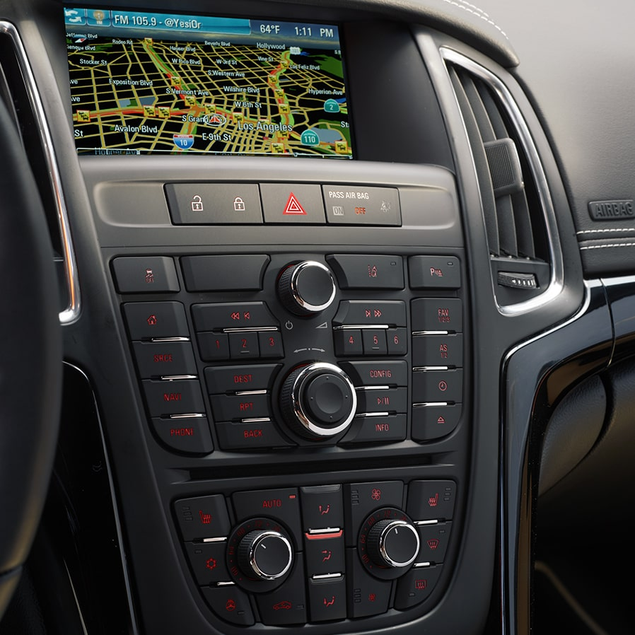 Image showing the navigation features in the 2017 Buick Verano small luxury sedan.