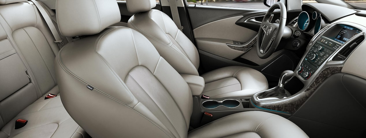 Masthead image for page highlighting interior features of the 2017 Buick Verano small luxury sedan.