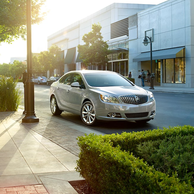 Exterior image of the 2017 Buick Verano small luxury sedan.