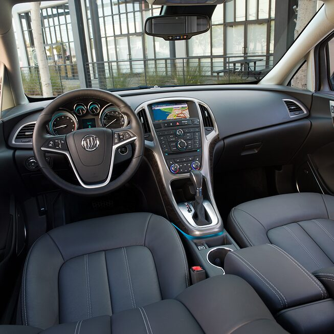 Interior image of the 2017 Buick Verano small luxury sedan.