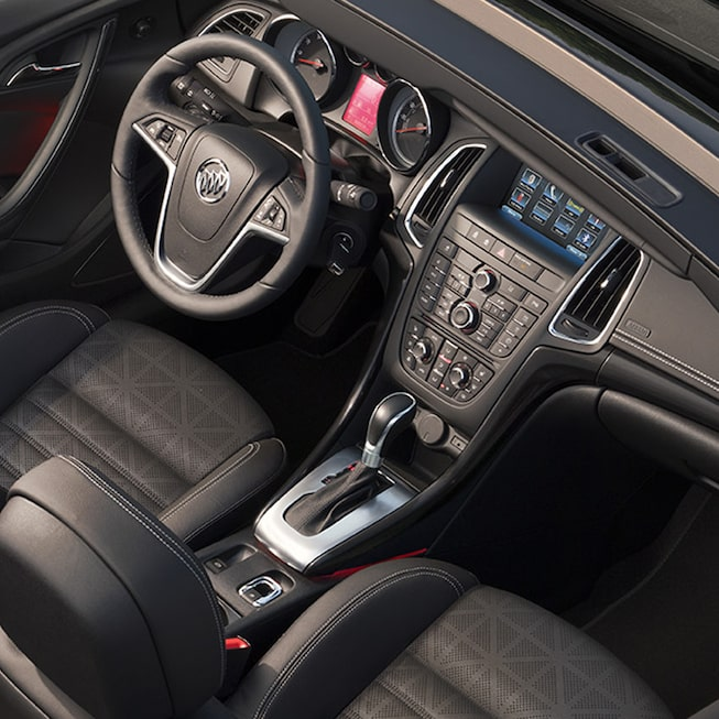 Interior image of the 2017 Buick Cascada luxury convertible.