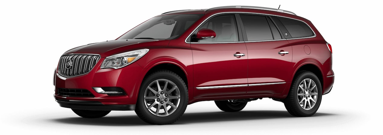 2017 Enclave mid-size luxury SUV in crimson red tintcoat.