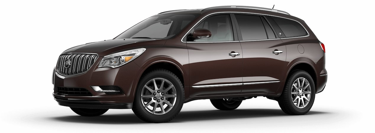 2017 Enclave mid-size luxury SUV in dark chocolate metallic.