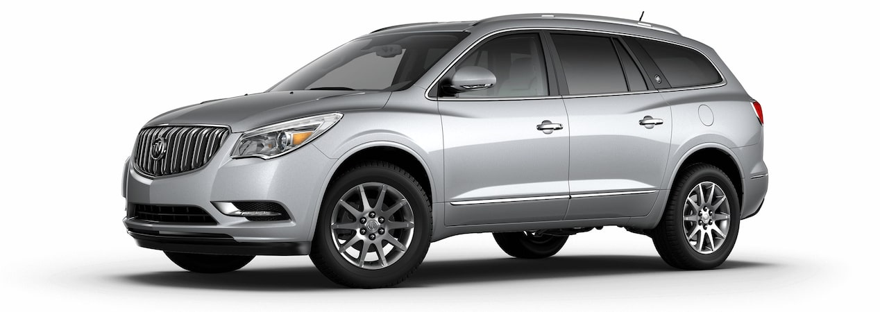 2017 Enclave mid-size luxury SUV in quicksilver metallic.