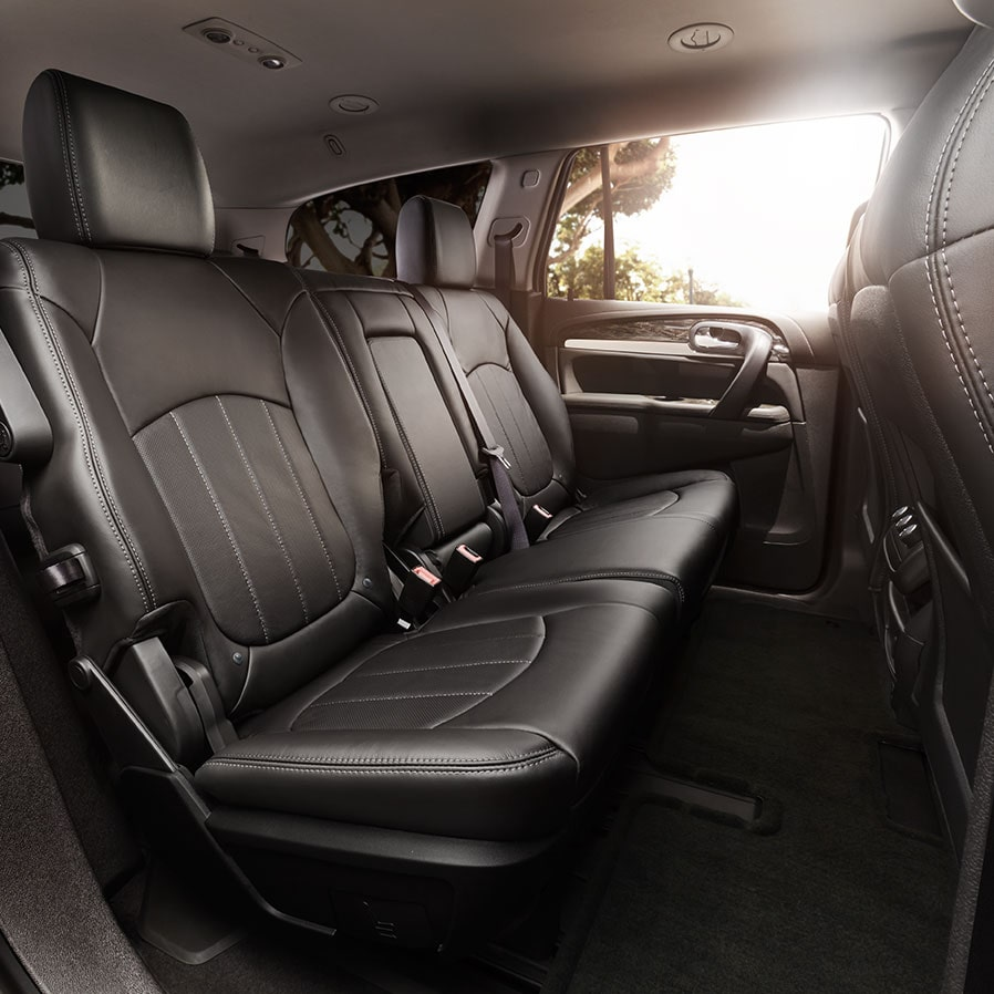 2017 Enclave mid-size luxury SUV interior bench seat.