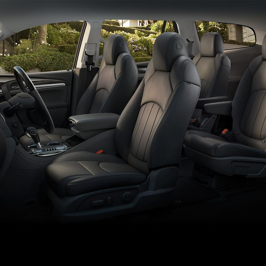 2017 Enclave mid-size luxury SUV second row of seating.