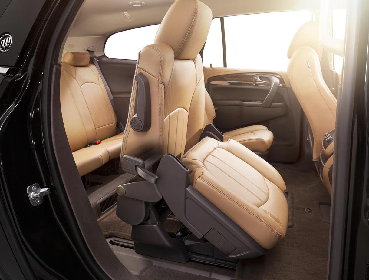 2017 Enclave mid-size luxury SUV smartslide seating.