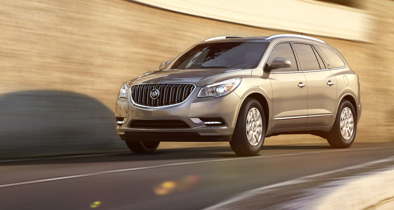 2017 Enclave mid-size luxury SUV performance features.