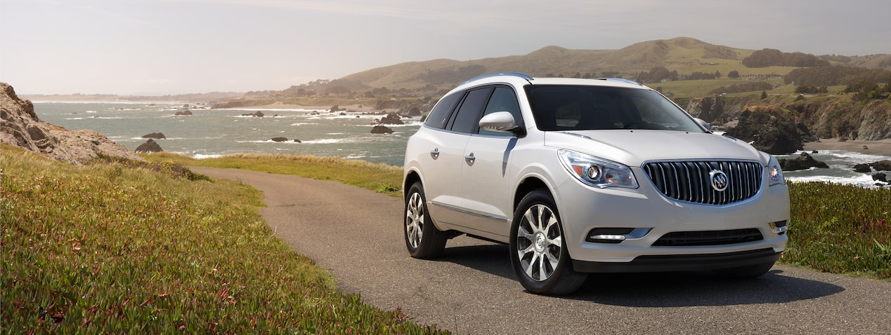 2017 Enclave mid-size luxury SUV safety features.
