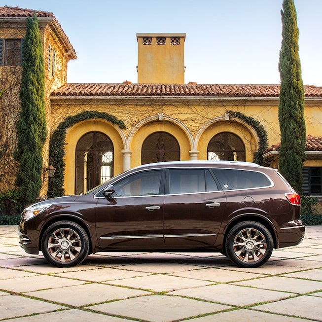 2017 Enclave mid-size luxury SUV Tuscan Edition shown in dark chocolate metallic.