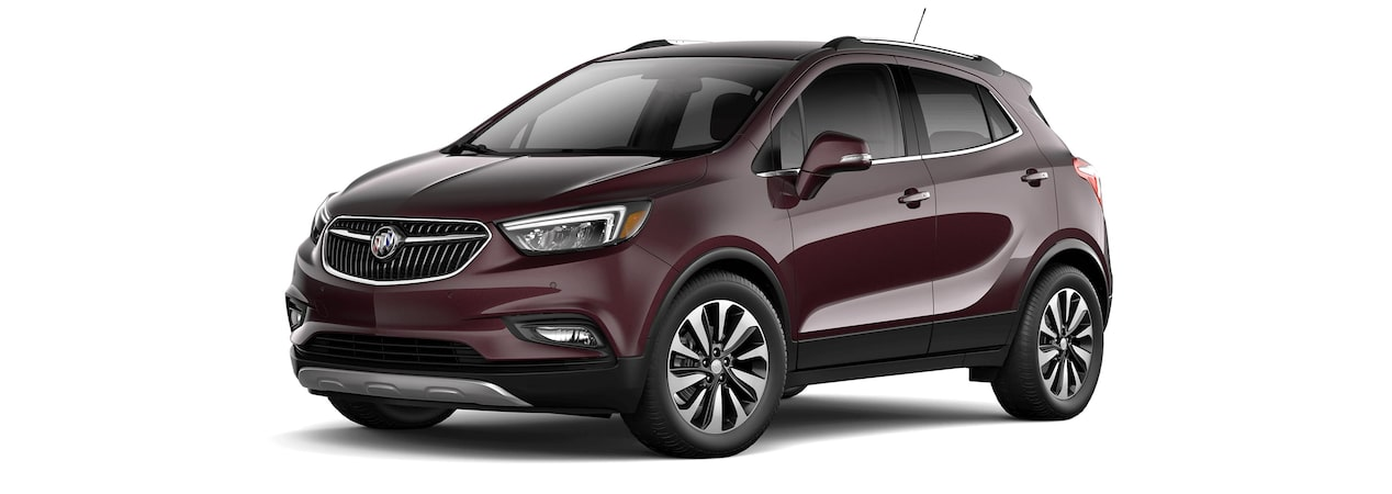 2017 Encore compact SUV in black cherry metallic.