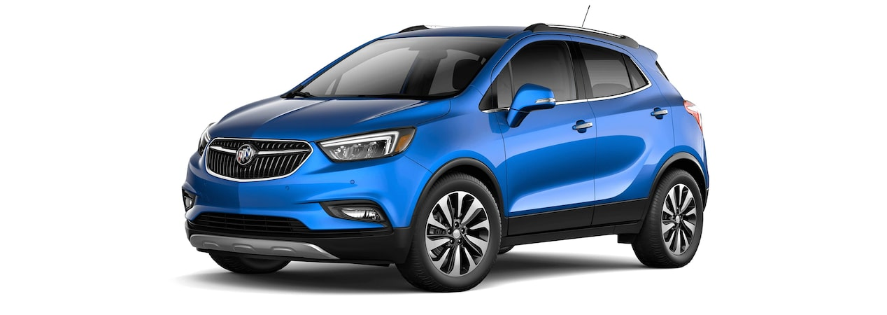 2017 Encore compact SUV in coastal blue metallic.