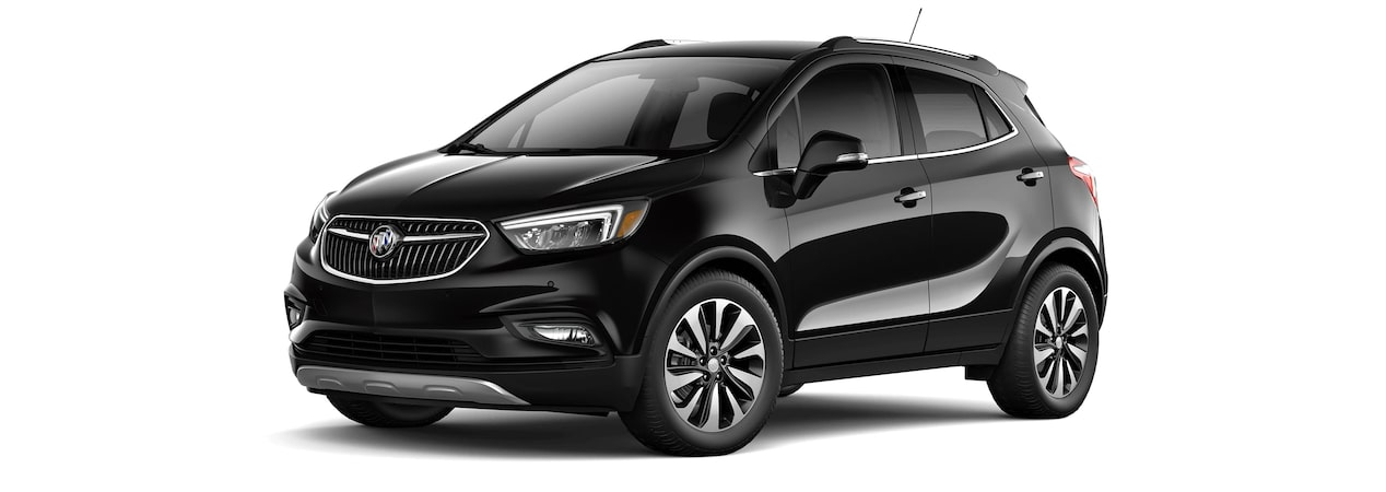 2017 Encore compact SUV in ebony twilight metallic.