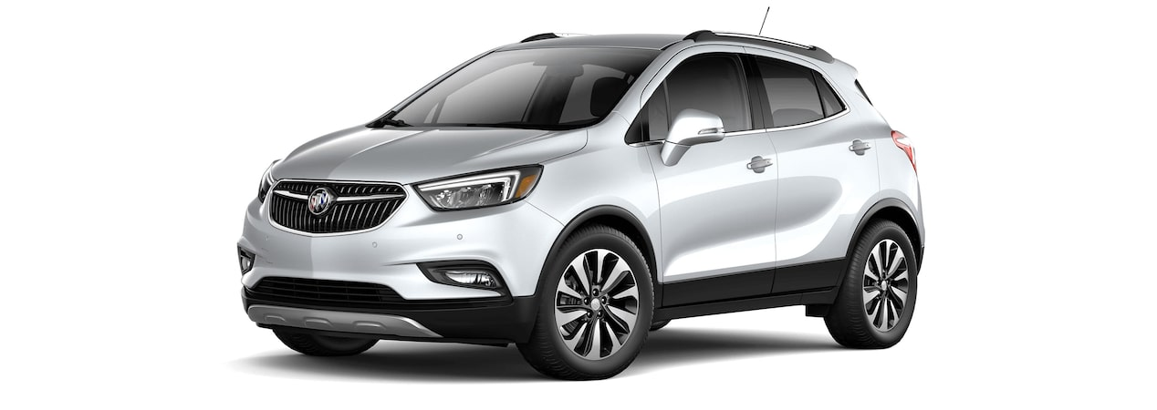 2017 Encore compact SUV in quicksilver metallic.