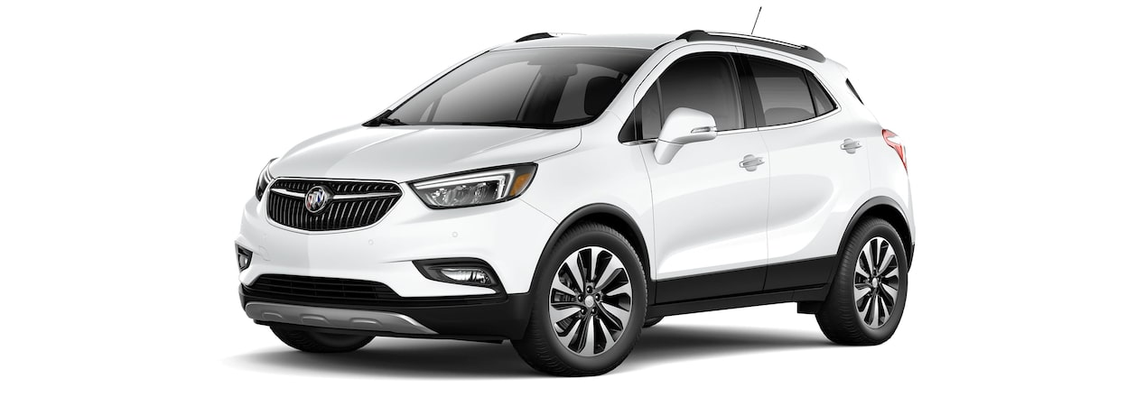2017 Encore compact SUV in summit white.