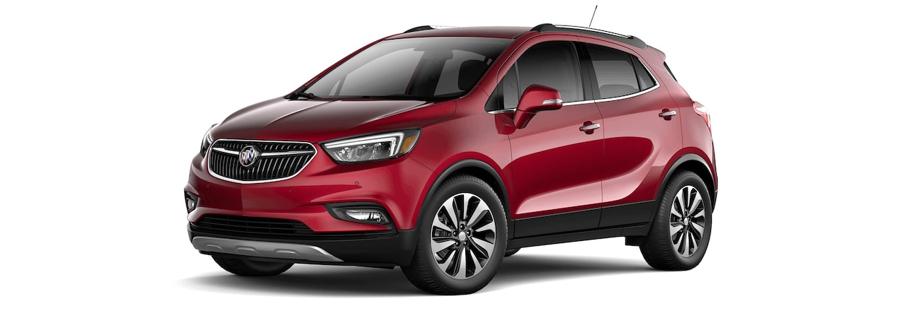 2017 Encore compact SUV in winterberry red metallic.