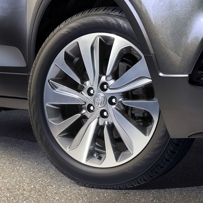 Wheels on the 2017 Encore compact SUV.