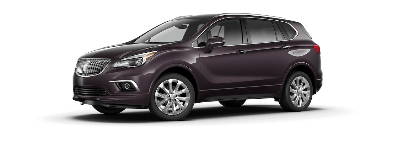 2017 Envision small luxury SUV shown in midnight amethyst metallic.