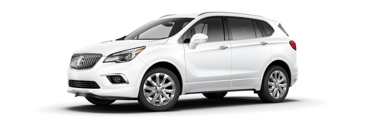 2017 Envision small luxury SUV shown in summit white.