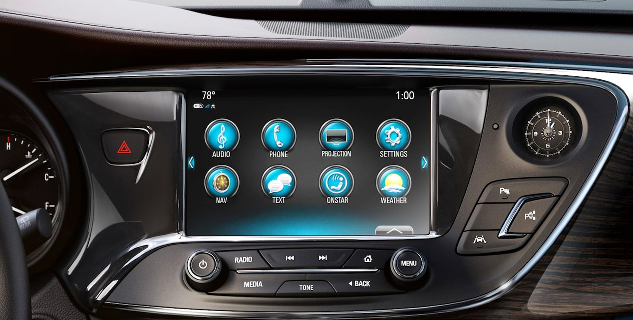 2017 Envision small luxury SUV Buick Infotainment System.
