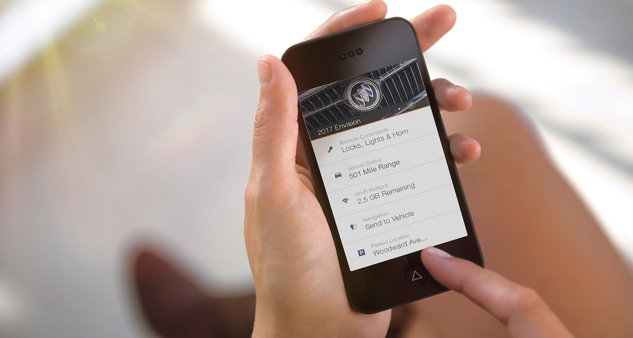 2017 Envision small luxury SUV myBuick App.