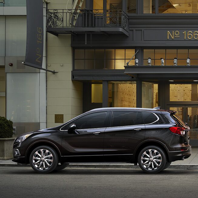 2017 Envision small luxury SUV parked on the street.