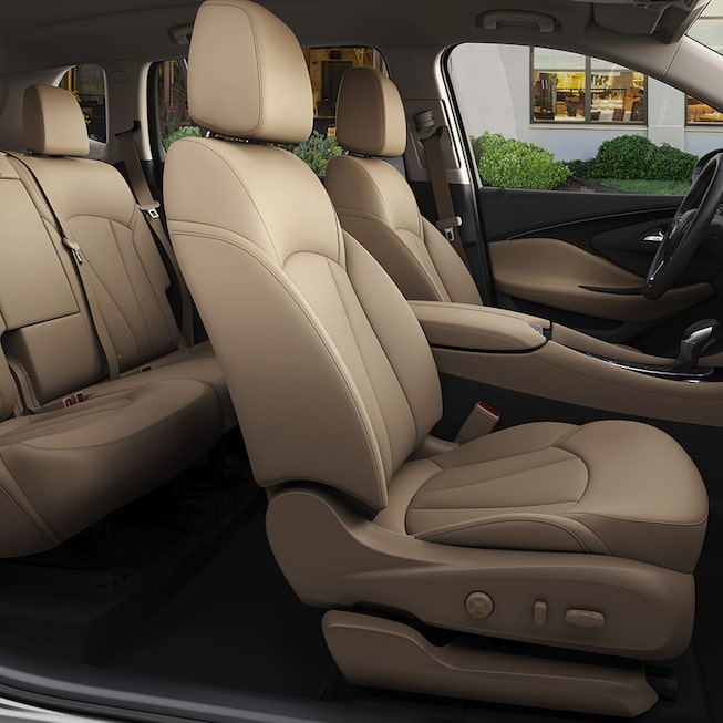 2017 Envision small luxury SUV spacious interior seating.