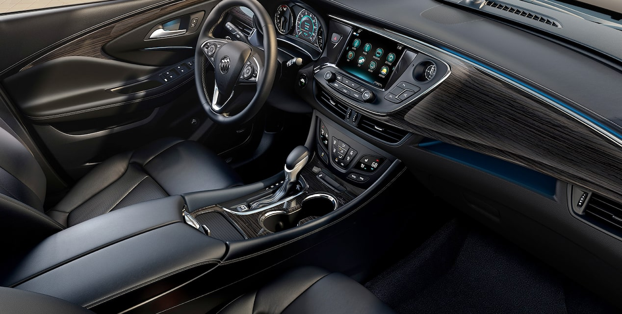 2017 Buick Envision small luxury SUV modern interior.
