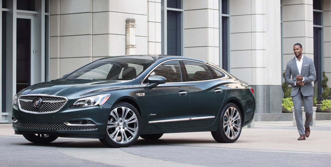 2018 LaCrosse Avenir full-size luxury sedan exterior.