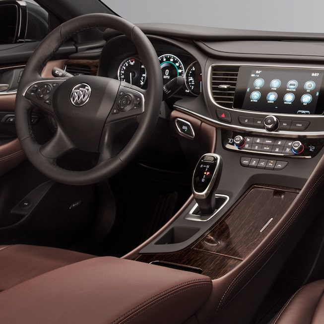 2018 LaCrosse Avenir full-size luxury sedan cockpit.